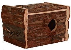 Деревянный домик для птиц - 21х13х12 см
