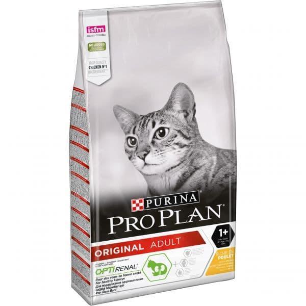 Корм Pro Plan для взрослых кошек (Курица) - 10 кг