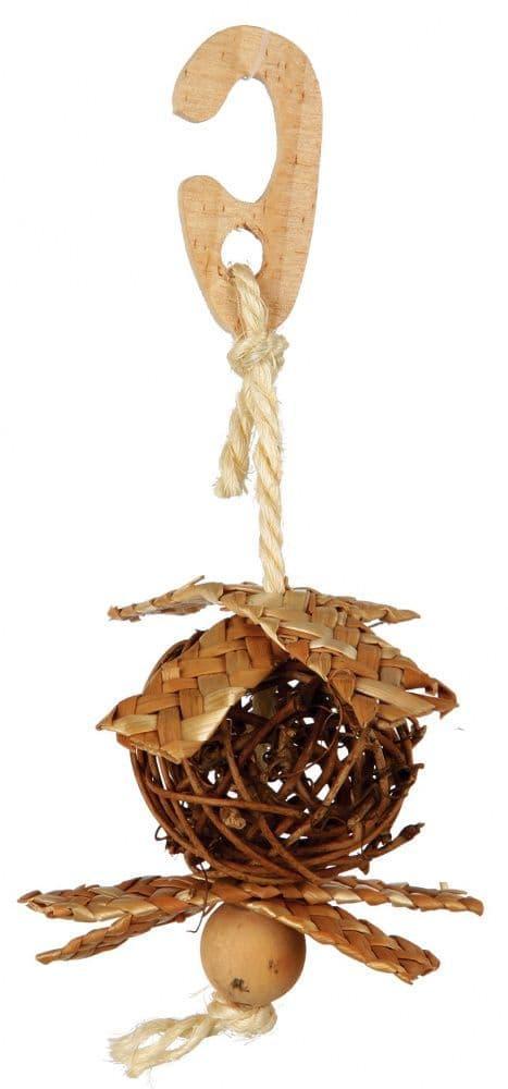 Игрушка Плетеный мяч Trixie для волнистых попугаев и канареек - 5.5 см