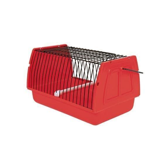 Транспортировочный бокс для птиц и мелких животных со съемной жердочкой - 22х14х15 см
