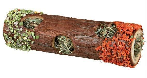 Тоннель с сеном для грызунов, из натурального дерева - 20 см