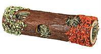Тоннель с сеном для кроликов и мелких грызунов, из натурального дерева - 30 см