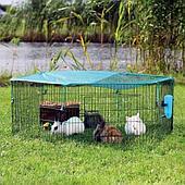 Вольер для мелких животных с защитной сеткой, секционный 6х58х38 см