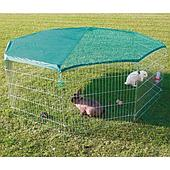Оцинкованный вольер для мелких пород собак и кроликов с высотой - 75 см