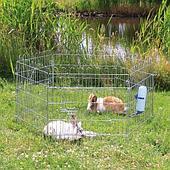 Металлический оцинкованный вольер для мелких животных, секционный 6х63х58 см
