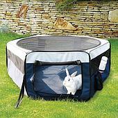 Плотный нейлоновый вольер со съемной крышей для грызунов и мелких собак - 90х40 см
