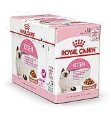 Корм Royal Canin Instinctive Kitten для котят от 4 до 12 месяцев (Кусочки в Соусе) - 12 х 85 г