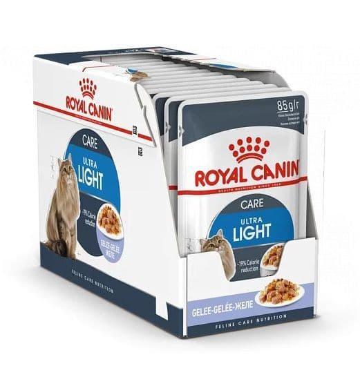 Корм Royal Canin Ultra Light для взрослых кошек склонных к избыточному весу (в Желе) - 12 х 85 г
