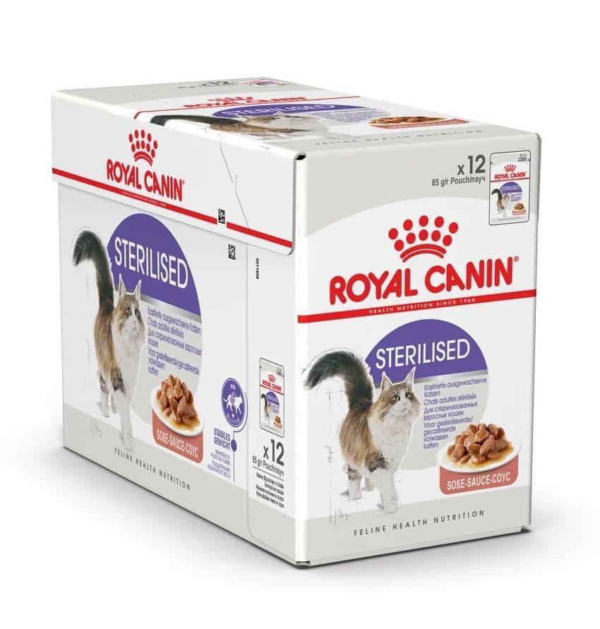 Корм Royal Canin Sterilised для стерилизованных и кострированных кошек и котов (в Соусе) - 12 х 85 г