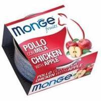 Консервы Monge для взрослых кошек (Курица и яблоко) - 80 г