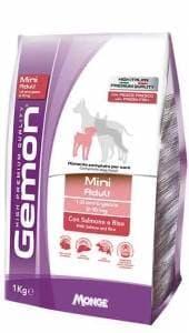 Корм Monge Gemon Mini Adult для взрослых собак маленьких пород (Лосось и рис) - 3 кг