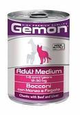 Консервы Monge Gemon Medium Adult для взрослых собак средних пород (Говядина и печень) - 415 г