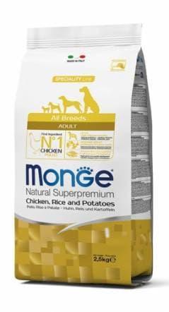 Корм гипоаллергенный Monge All Breeds Adult для взрослых собак всех пород (Курица) - 12 кг
