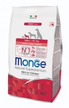 Корм Monge Mini Puppy & Junior для щенков мелких пород (Курица) - 3 кг