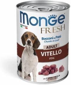 Консервы Monge Fresh Chunks для взролых собак (Телятина) - 400 г