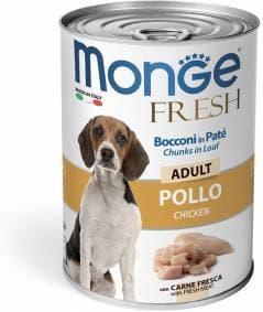 Консервы Monge Dog Fresh Chunks для взрослых собак (Курица) - 400 г