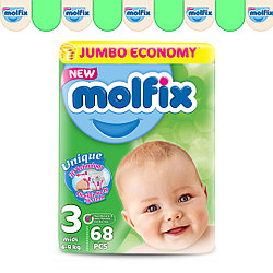 Подгузники детские Molfix №3 (4-9 кг), 68 шт