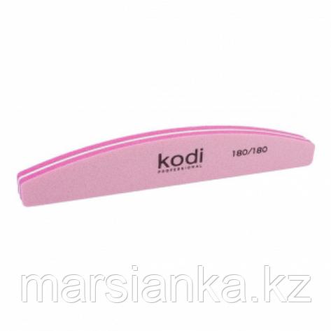 "Баф для ногтей Kodi 180/180 ""полумесяц"" розовый, фото 2"