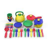 """Казик Игровой набор посуды """"Поварёнок"""", 37 предмета"""