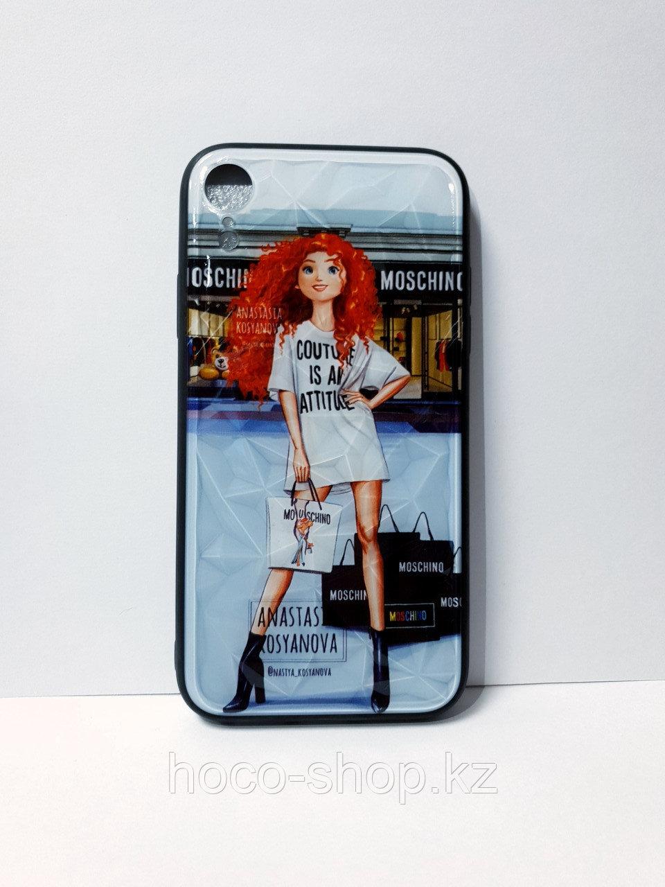 Чехол гель со стеклом iPhone XR