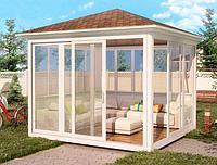Изготовление и установка беседок/садовых домиков из металлопластикового профиля (ПВХ)