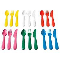 КАЛАС Столовый набор,18 предметов, разные цвета