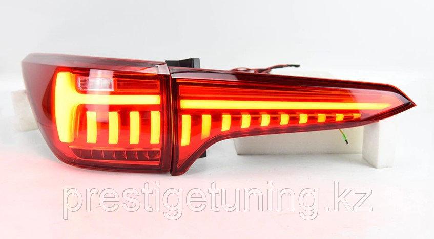 Задние альтернативные фонари на Toyota Fortuner 2016- Red color Type 2