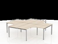Письменный стол угловой квартет ТНУ314-4-ТР+ТНУ313К-4-22, фото 1