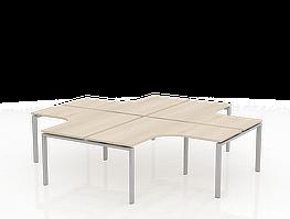 Письменный стол угловой квартет ТНУ314-4-ТР+ТНУ313К-4-22