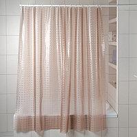 Штора для ванной комнаты «Снежная королева», 180×180 см, EVA, цвет бежевый