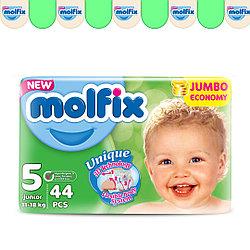 Подгузники детские Molfix №5 (11-18 кг), 44 шт.