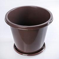 Горшок цветочный «Эконом», 10 л, цвет коричневый