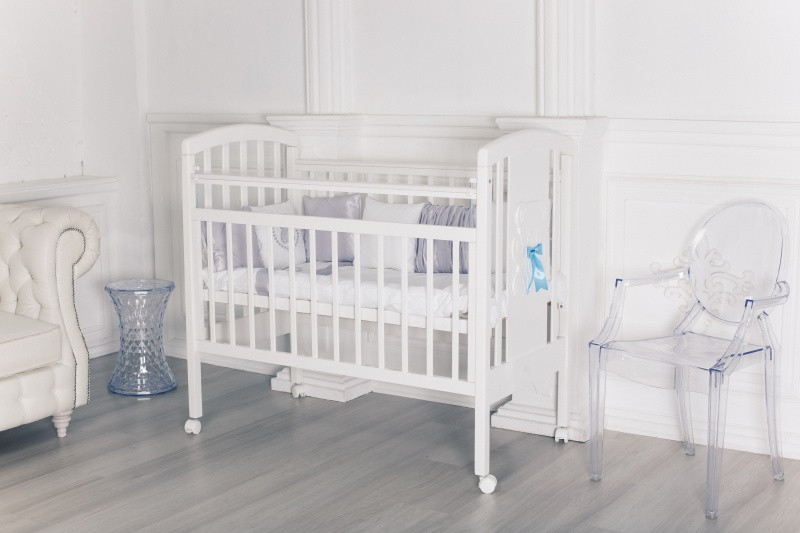 Кровать детская Incanto HUGGE, колесо, белый
