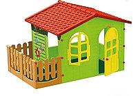 Игровой домик садовый с забором Mochtoys 10498