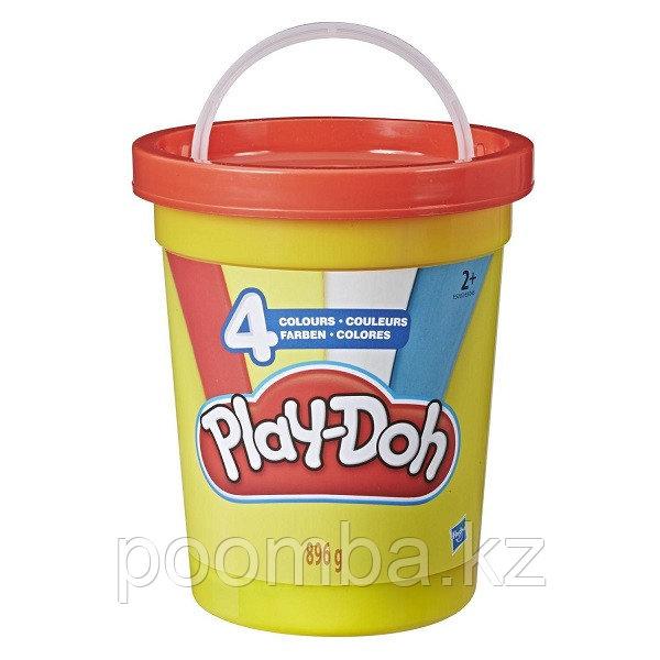 Набор пластилина Play-Doh в большой банке, голубой, 4 цвета
