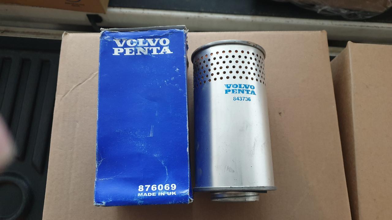 D86/H162 VOLVO-PENTA 876069 Фильтр вентиляции картера для  OEM: 843736, 18-57702 (оригинал)