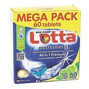 Таблетки для ПММ LOTTA All in1 mega (60 табл.), 60 шт