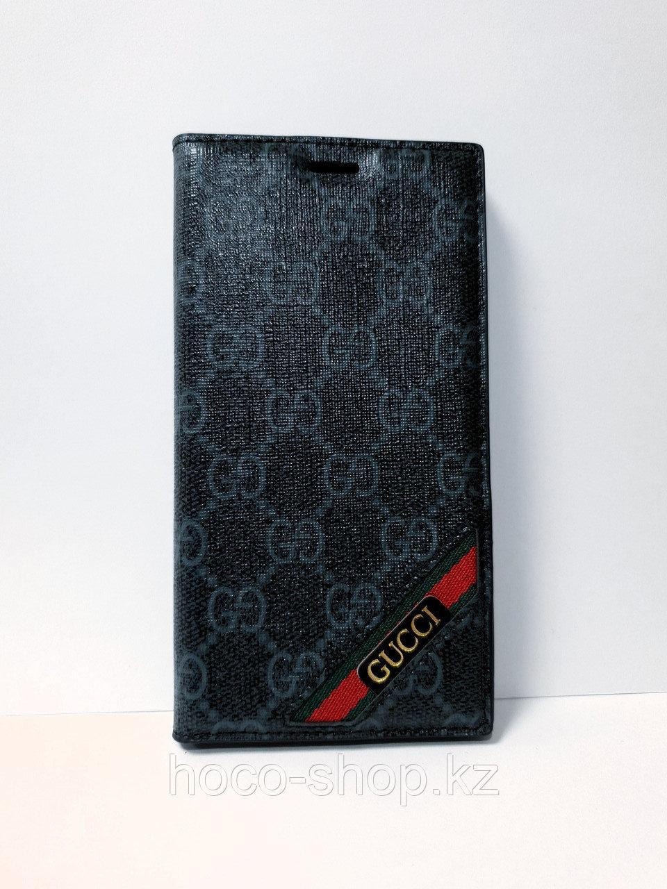Кожаный чехол-книжка Gucci iPhone XR