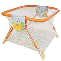 Детский манеж Globex Книжка оранжевый, фото 1
