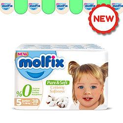 Детские Подгузники Molfix Pure&Soft №5 JUNIOR (11-18кг), 38шт