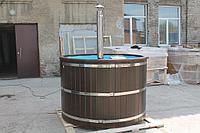 Купель-Фурако из кедра д. 220 см. / круглая / с пластиковой вставкой / внутренняя печь, фото 1