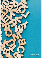 """Книга для записей А4 (210х290), 100л. 7БЦ клетка """"Буквы"""", глянцевая ламинация"""
