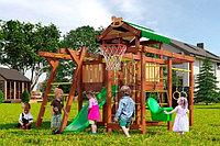 Детская площадка Савушка BABY-5, игровой домик с крышей, сетка-лазалка, турник, балкон, меловая доска., фото 1