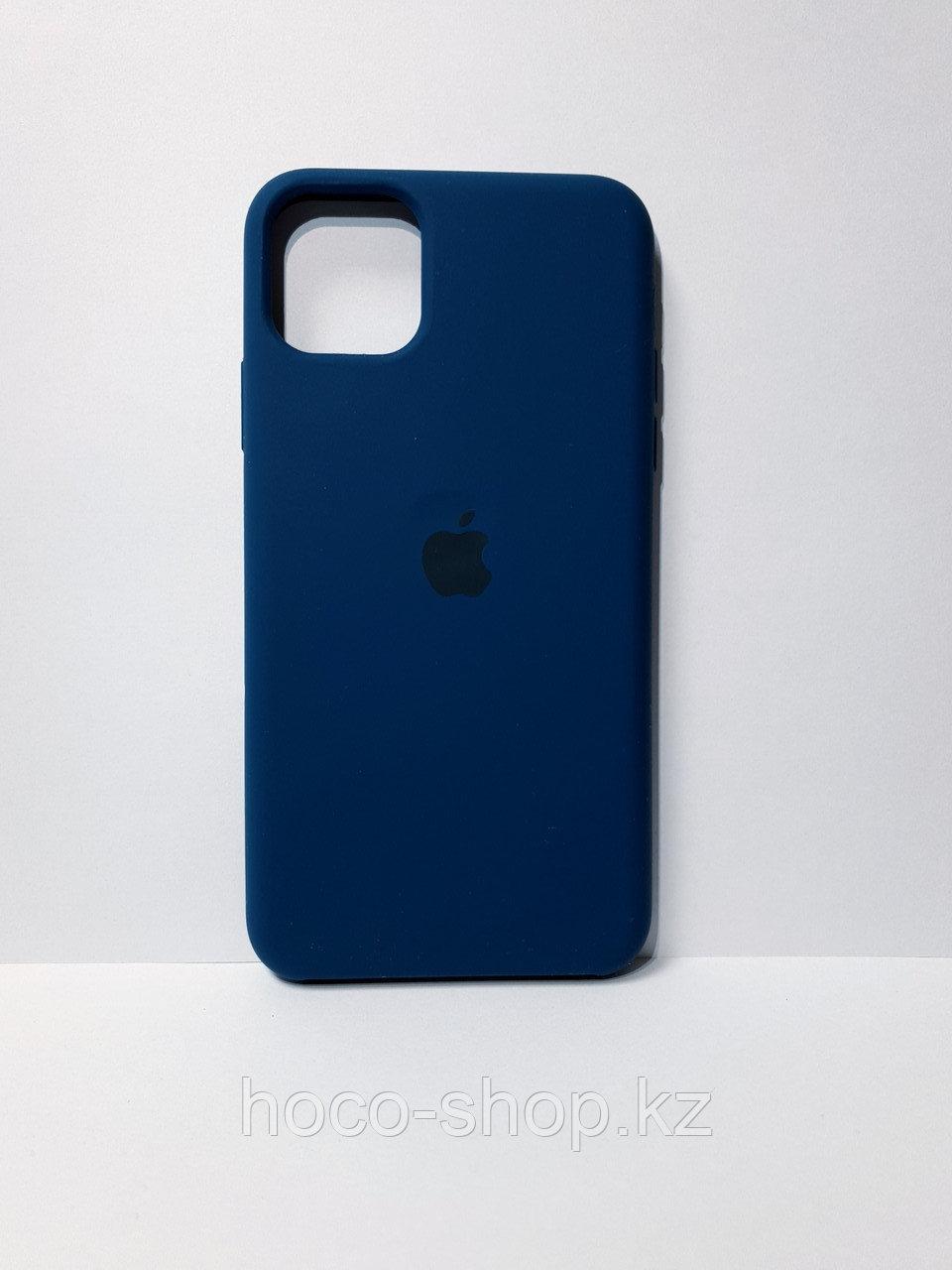 Защитный чехол для iPhone 11 Pro Max Soft Touch силиконовый, синий