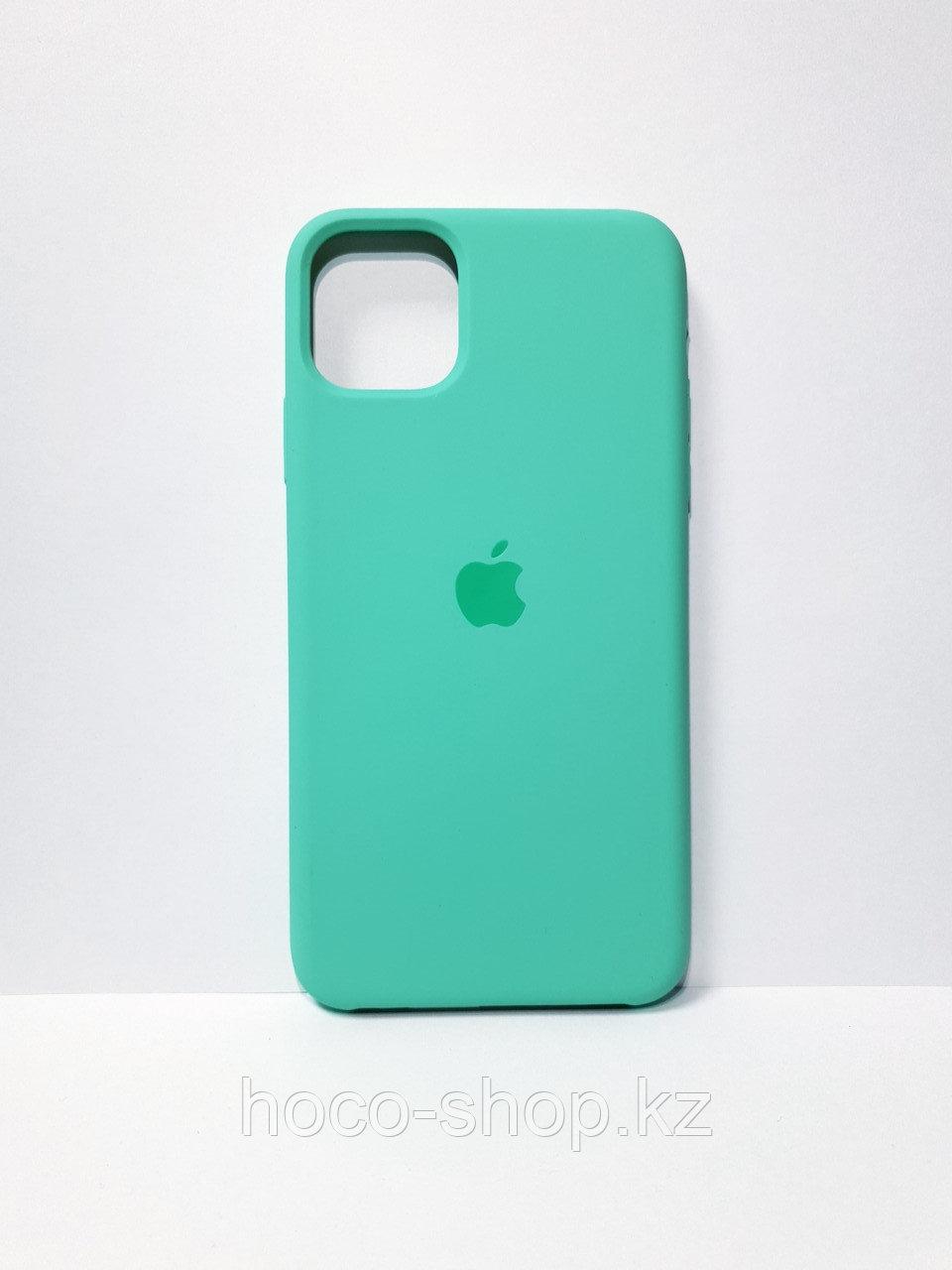 Защитный чехол для iPhone 11 Pro Max Soft Touch силиконовый, бирюзовый