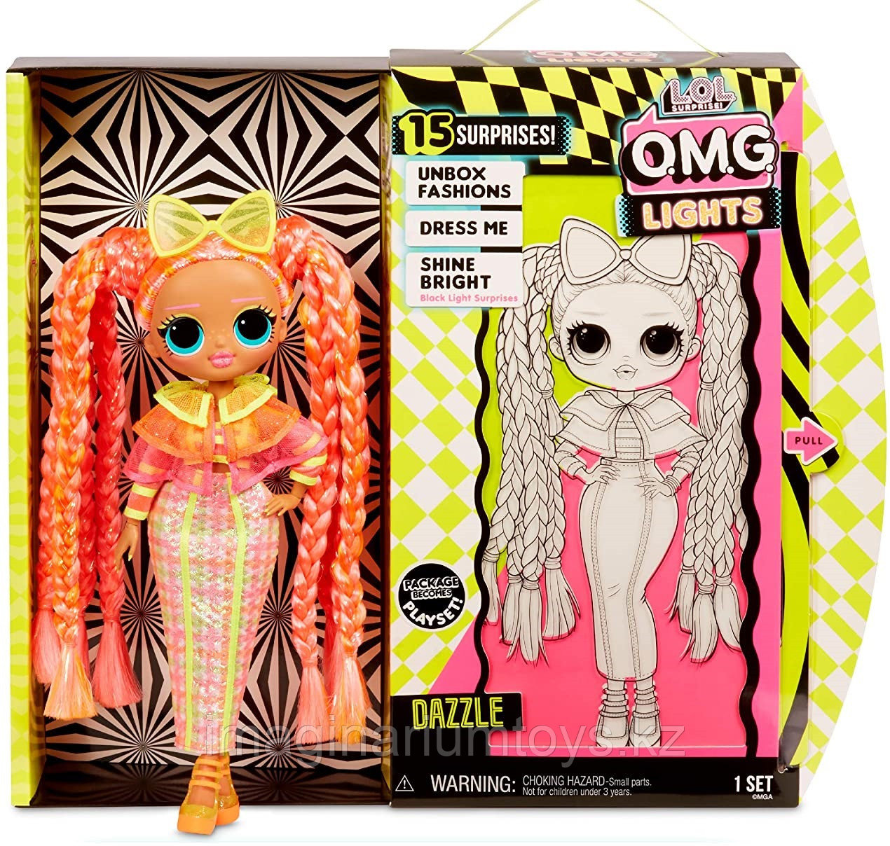 LOL OMG Lights кукла ЛОЛ ОМГ Лайтс светящаяся Неон Даззл - фото 1