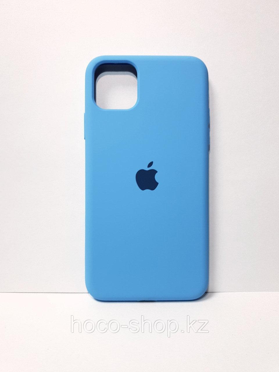 Защитный чехол для iPhone 11 Pro Max Soft Touch силиконовый, голубой