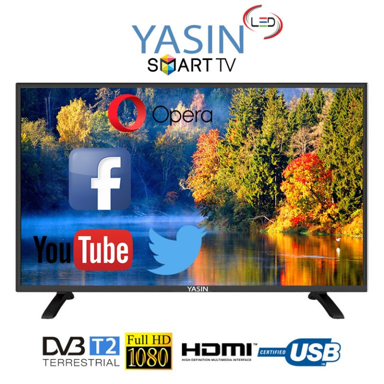 Телевизор Yasin LED 43E8000 WI-FI YOU TUBE