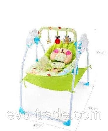 Детский шезлонг Baby cradle с пультом(вибро,мелодия от игрушки)3 положения