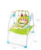 Детский шезлонгBaby cradle с пультом(вибро,мелодия от игрушки)3 положения